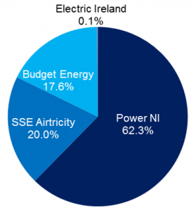 Northern Ireland domestic electricity keypad market share