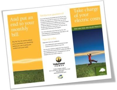 Wake Forest Power prepaid electric program advert